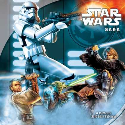 Star Wars Books - STAR WARS - THE SAGA 2010 MINI Calendar