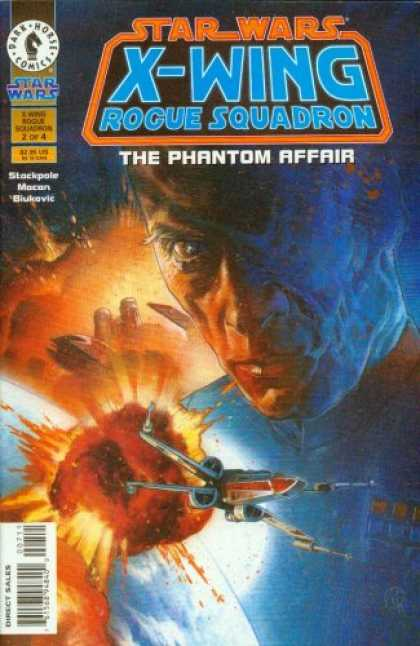 Star Wars Books - Star Wars X-Wing Rogue Squadron The Phantom Affair # 1, 2, 3 and 4. (The Complet