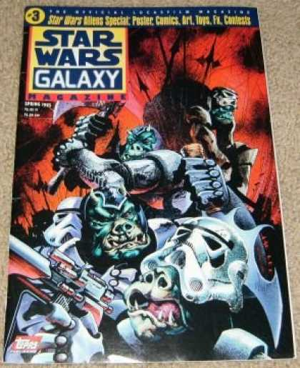 Star Wars Books - Star Wars Galaxy Magazine #3 (Aliens Special: Poster, Comics, Art, Toys - Spring