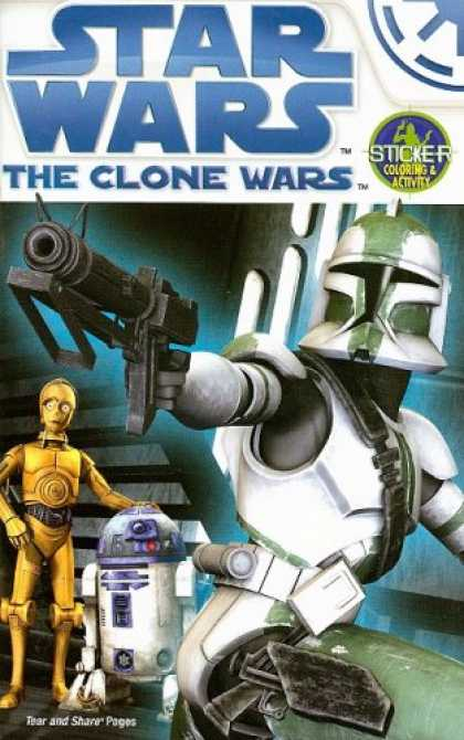 Star Wars Books - The Clone Wars Activity Book to Color With Stickers (Star Wars)