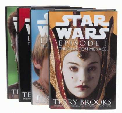 Star Wars Books - Star Wars, Episode I - The Phantom Menace (4 Different Cover Set)