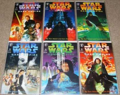 Star Wars Books - Star Wars Dark Empire # 1, 2, 3, 4, 5 and 6. (The Complete Six Part Limited Seri