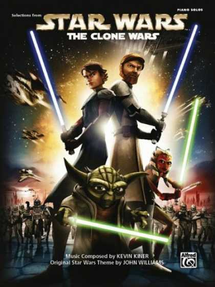 Star Wars Books - Star Wars the Clone Wars: Piano Solos
