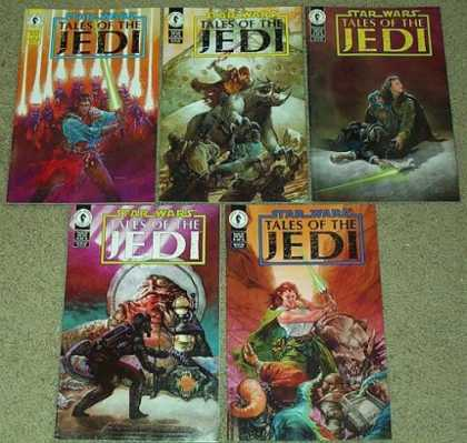 Star Wars Books - Star Wars Tales of the Jedi # 1, 2, 3, 4 and 5. (The Complete Five Part Limited