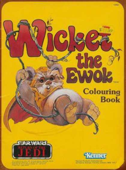 Star Wars Books - Wicket the Ewok Coloring Book ; Star Wars Return of the Jedi