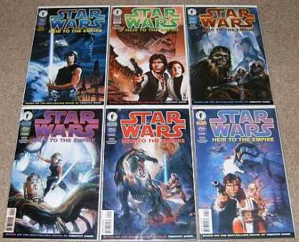 Star Wars Books - Star Wars Heir to the Empire # 1, 2, 3, 4, 5 and 6. (The Complete Six Part Limit