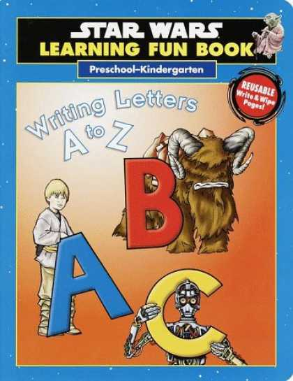Star Wars Books - Star Wars Learning Fun Book Writing Letters A to Z (Pre-K)