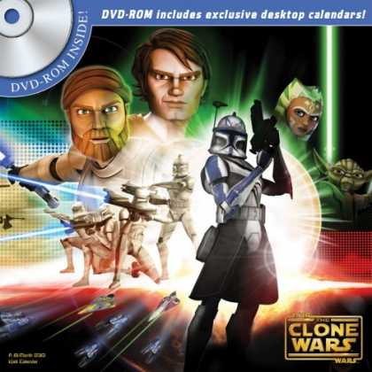 Star Wars Books - STAR WARS: THE CLONE WARS 2010 Wall Calendars Inc DVD