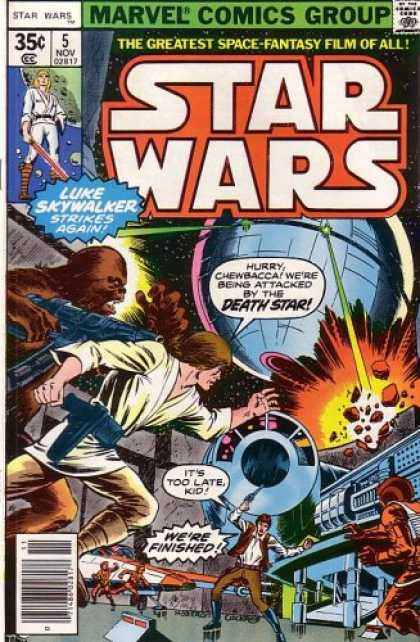 Star Wars Books - Star Wars, Vol 1 #5 (Comic Book, 1977): Lo, the Moons of Yavin!