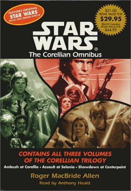 Star Wars Books - The Corellian Trilogy Value Collection: Ambush at Corellia, Assault at Selonia,