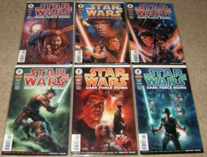 Star Wars Books - Star Wars Dark Force Rising # 1, 2, 3, 4, 5 and 6. (The Complete Six Part Limite