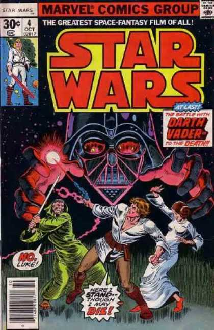 Star Wars Books - Star Wars (Comic) Oct. 1977 No. 4 (The Greatest Space-Fantasy Film of All, 1)