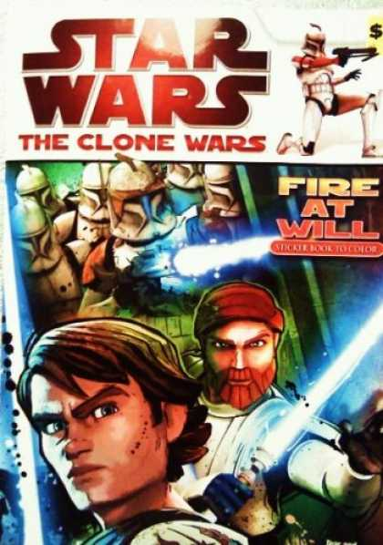 "Star Wars Books - Star Wars - The Clone Wars - "" Fire At Will "" Sticker Book to Color [ Coloring A"