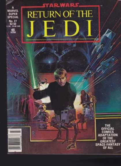 Star Wars Books - Star Wars Return of the Jedi The Official Comics Adaptation Marvel Super Special
