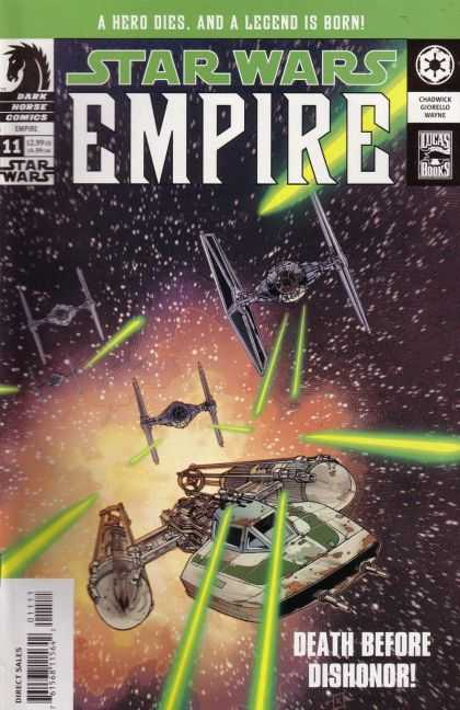 Star Wars Empire 11 - Death Before Dishonor - Outer Space - Laser Beams - Battles - Space Ship