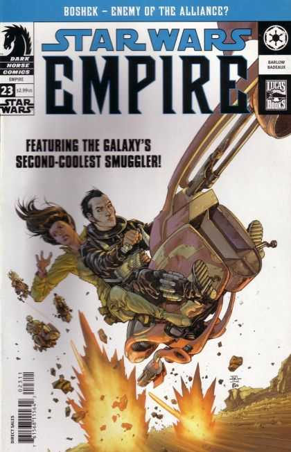 Star Wars Empire 23 - Featuring The Galaxys Second-coolest Smuggler - Enemy Of The Alliance - Boshek - Dark Horse Comics - Lucas Books