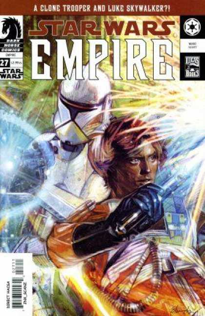 Star Wars Empire 27 - Clone Trooper - Luke Skywalker - Black Glove - Light Saber - Battles