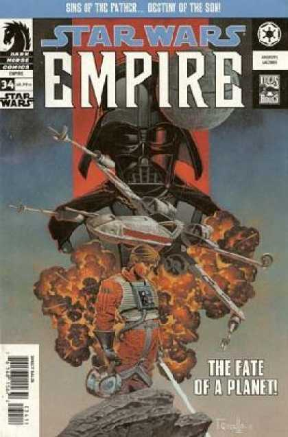 Star Wars Empire 34 - Darth Vader - Fire - Spaceship - The Fate Of A Planet - 34