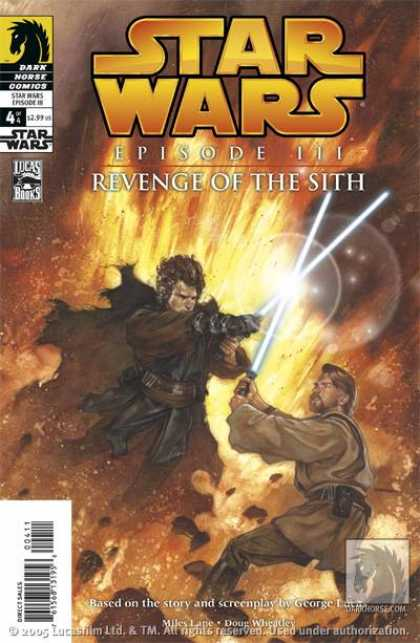 Star Wars: Revenge of the Sith 4 - Anakin - Obi-wan - Lightsaber Duel - Darkside - Fire And Destruction