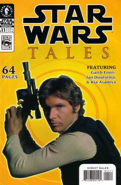 Star Wars Tales 11 - Gun - Yellow Background - Pose - Skywalker - Luke - Kilian Plunkett