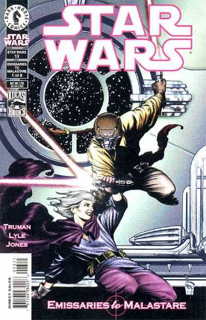 Star Wars 13 - Dual Wielding Lightsabers - Window To Space - Cape - Lightsaber Duel - Emissaries To Malastare - John Byrne, Terry Austin