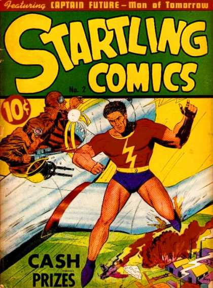 Startling Comics 2 - Captain Future - Cash Prizes - Man Of Tomorrow - Airplane - No 2