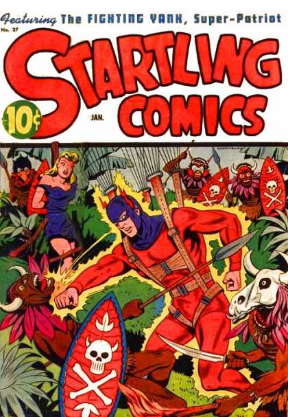 Startling Comics 37 - Savages - Bonded - Jungle - Shield - Knfe