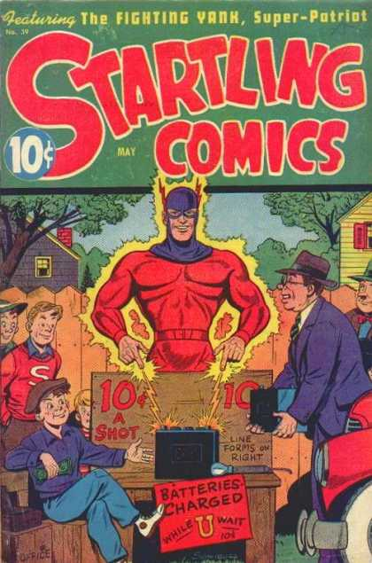 Startling Comics 39 - The Flying Yank - Super Patriot - Batteries - May Edition - Issue 39