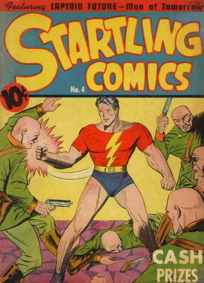 Startling Comics 4 - Super Man - Gun - Man With Fight - Stranger - Captain