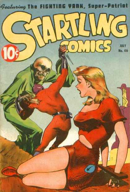Startling Comics 46 - The Fighting Yank - Skeleton Head - Damsel In Distress - Super-patriot - Confrontation