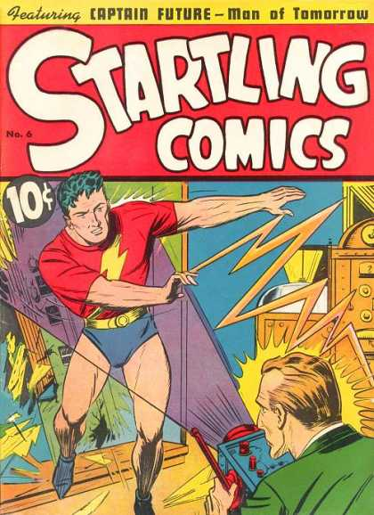 Startling Comics 6 - 10 Cents - Superhero - Captain Future - Man Of Tomorrow - Bolt