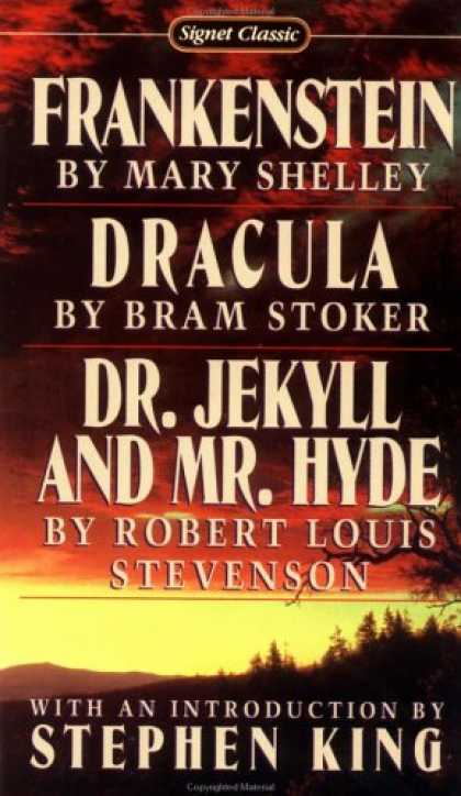 Stephen King Books - Frankenstein; Dracula; Dr Jekyll and Mr Hyde (Signet classics)