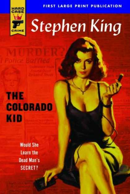 Stephen King Books - The Colorado Kid (Large Print)