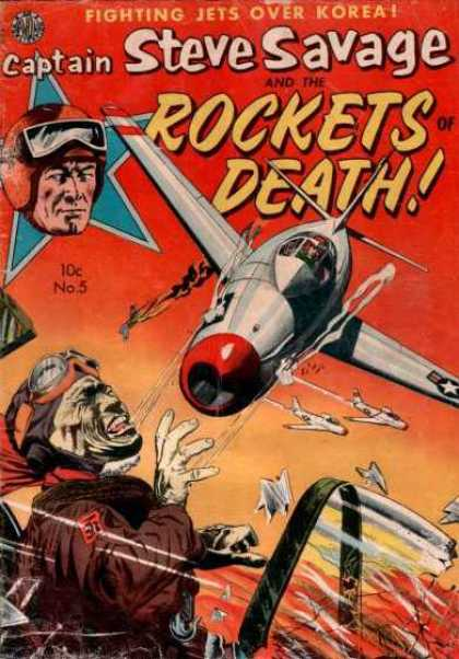 Steve Savage 5 - Fighting Jets - Korean Fighting Jets - Rockets Of Death - Issue No 5 - Kamakazi