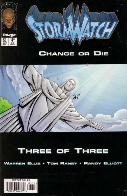 Stormwatch 50 - Change Or Die - Sky - Statue - Face - Three Or Three - Tom Raney