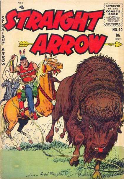 Straight Arrow 50 - Bison - Indian - Horse - Arrow - No 50