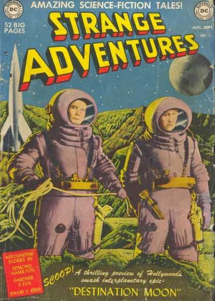 Strange Adventures 1 - Amazing Science-foction Tales - Space Suits - Rocket - Another Planet - Destination Moon - Brian Bolland, Rob Hunter