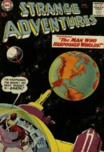 Strange Adventures 103 - Earth - Moon - Space - Space Travel - Harpoon