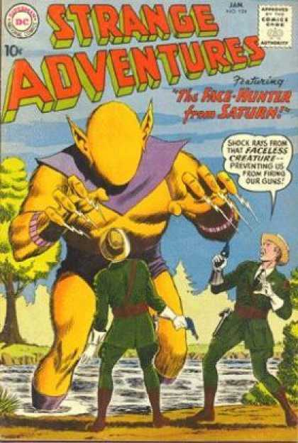 Strange Adventures 124 - Faceless Creature - Face-hunter From Saturn - Guns - Guards - Swamp - Murphy Anderson
