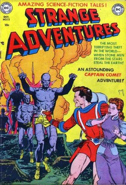 Strange Adventures 13 - Cloud - Monsters - Ray Gun - Craters - Woman