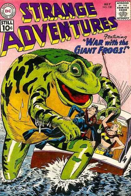 Strange Adventures 130 - Frog - Approved By The Comics Code - Superman National Comics - Still 10 C - Man