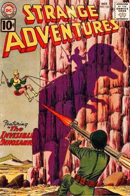 Strange Adventures 133 - Invisible Dinosaur - Bazooka - Rider - Army Outfit - Sand - Murphy Anderson