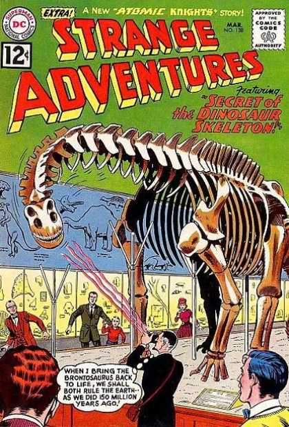 Strange Adventures 138 - Dinosaur - Comics Code Authority - Skeleton - Thought Bubble - Observers - Murphy Anderson