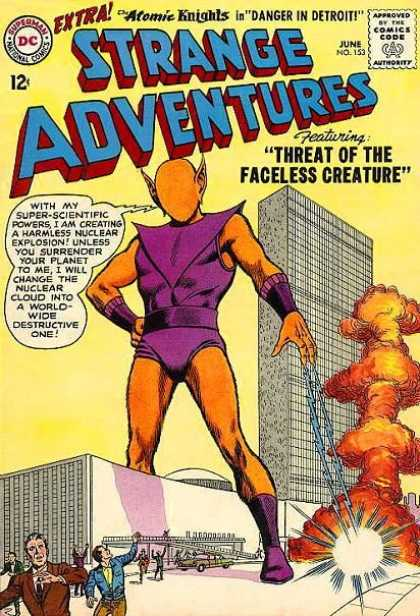 Strange Adventures 153 - Nuclear Explosion - Faceless Creature - United Nations - Lightning - Destruction - Murphy Anderson