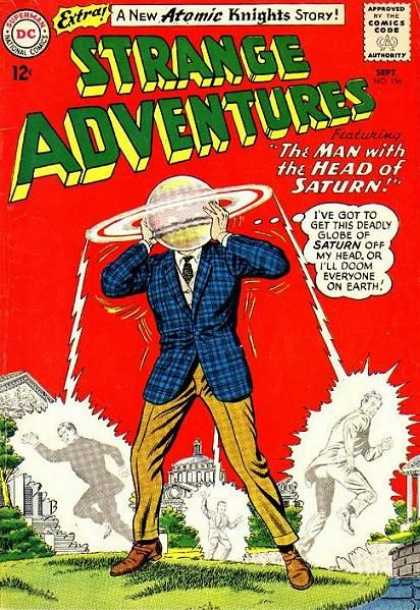 Strange Adventures 156 - Saturn - Washington Dc - Planet Head - Blue Plaid Jacket - Gold Pants - Murphy Anderson