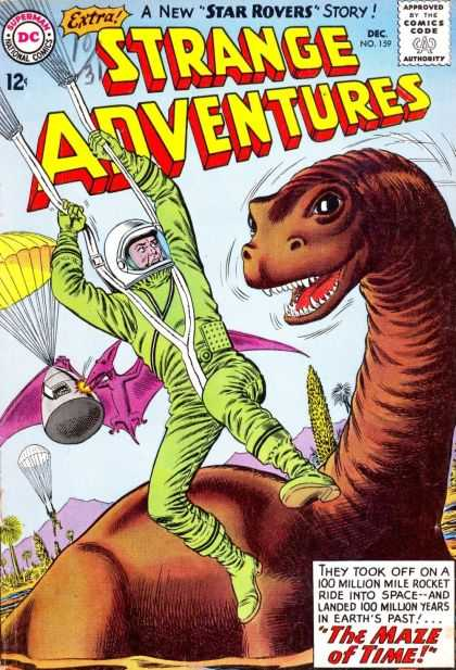 Strange Adventures 159 - Weird Adventures - Time Travel - Future Meets Past - Big Things To Come - Star Rovers - Murphy Anderson