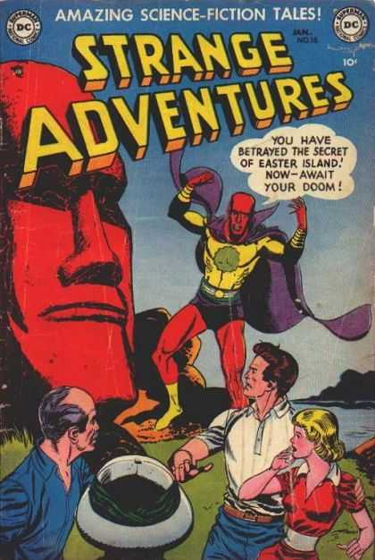 Strange Adventures 16 - Easter Island - Dc - Family - Lake - Science-fiction Tales