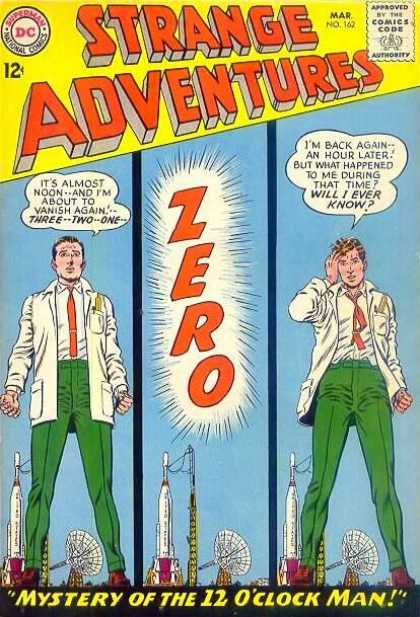 Strange Adventures 162 - Scientist - Mistery Of The 12 0clock Man - Zero - Green Pants - Time Machine - Murphy Anderson