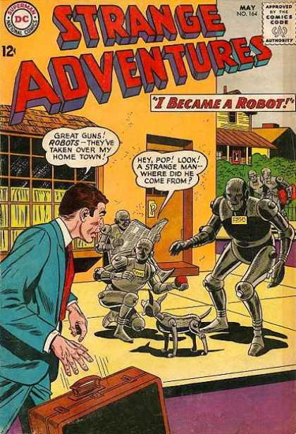 Strange Adventures 164 - I Became A Robot - Home Town - Strange Man - Horror - Robot Dog - Sheldon Moldoff
