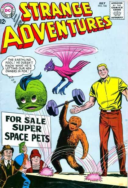Strange Adventures 166 - Space Pets - No 166 - Classic Comic - Aliens For Sale - Silly Earthlings - Sheldon Moldoff
